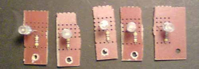 LEDs montados nas placas