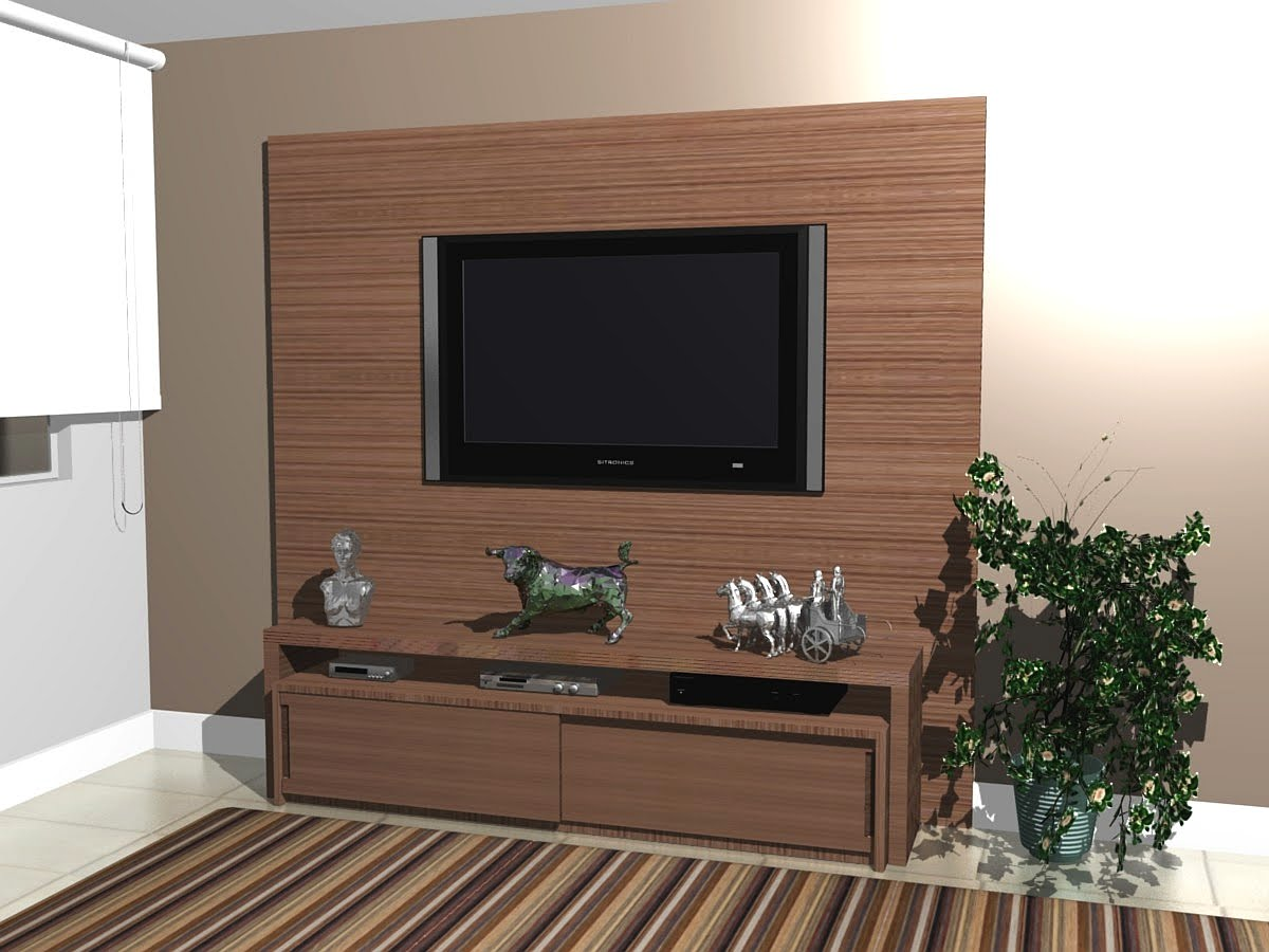 Painel Tv Lcd -> Estantes Para Sala De Tv Lcd
