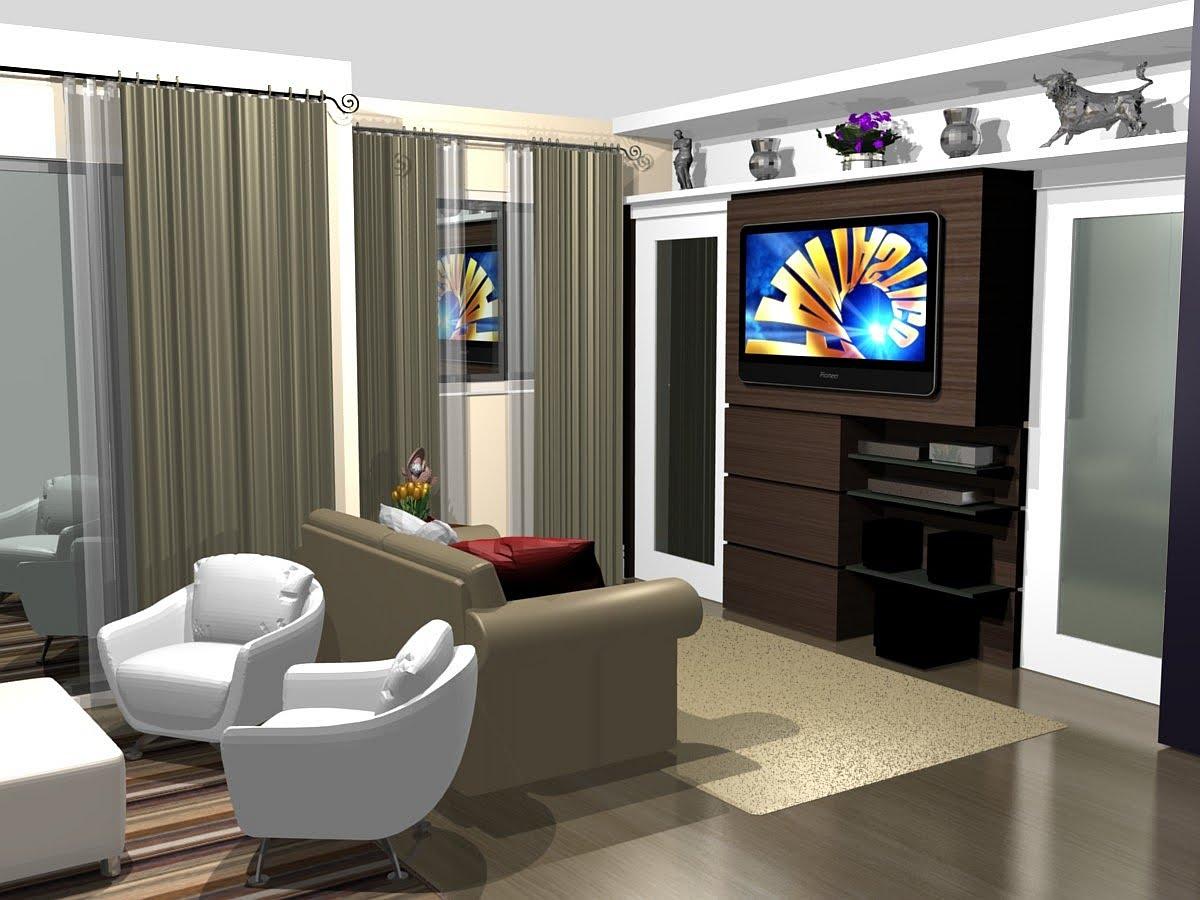 Pruzak Com Sala Pequena Com Home Theater Id Ias Interessantes  -> Sala Pequena Decorada Home Theater