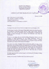 Letter from Maligo Barangay Council