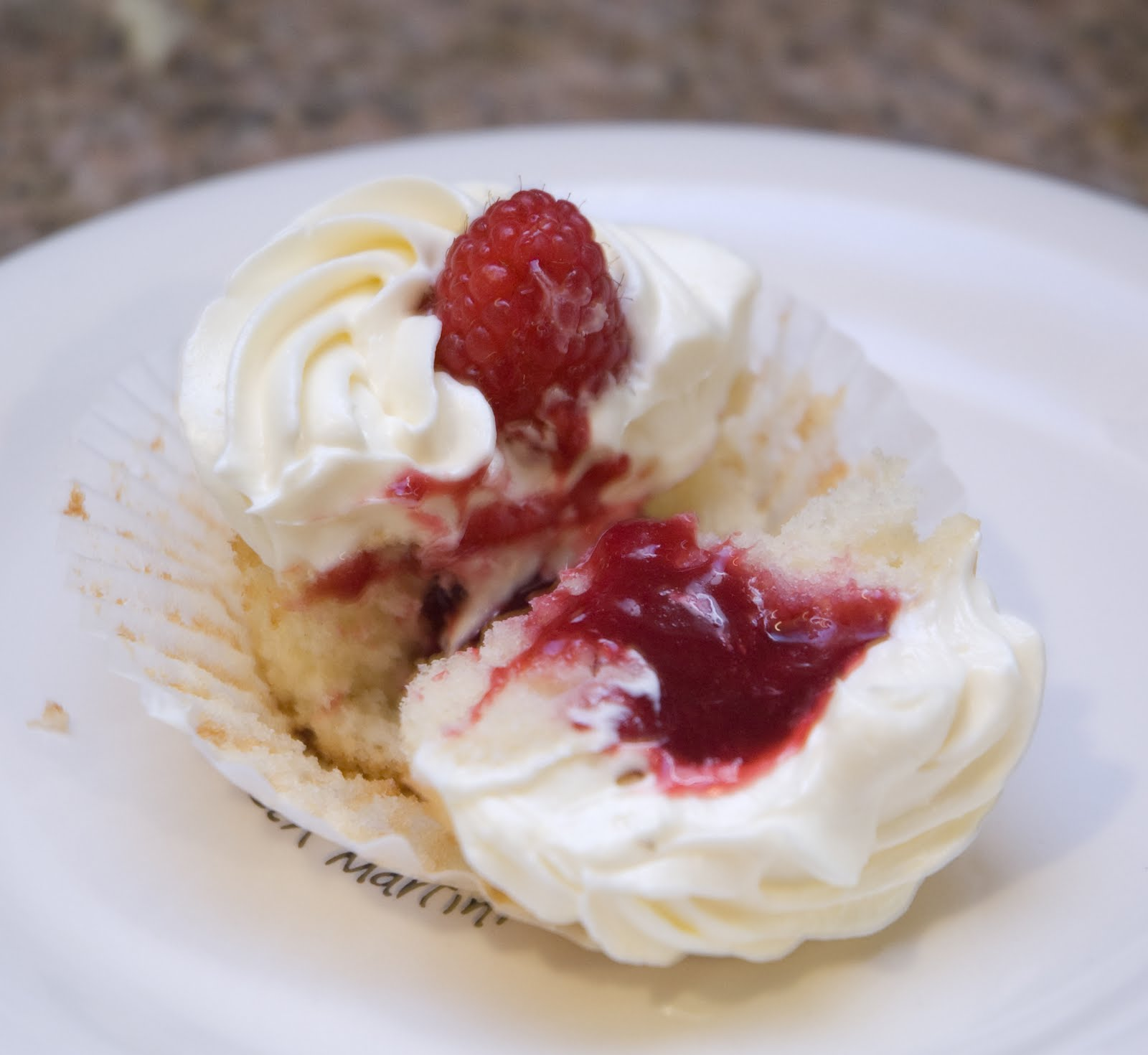 Butter + Cream: White Chocolate Raspberry Cupcakes