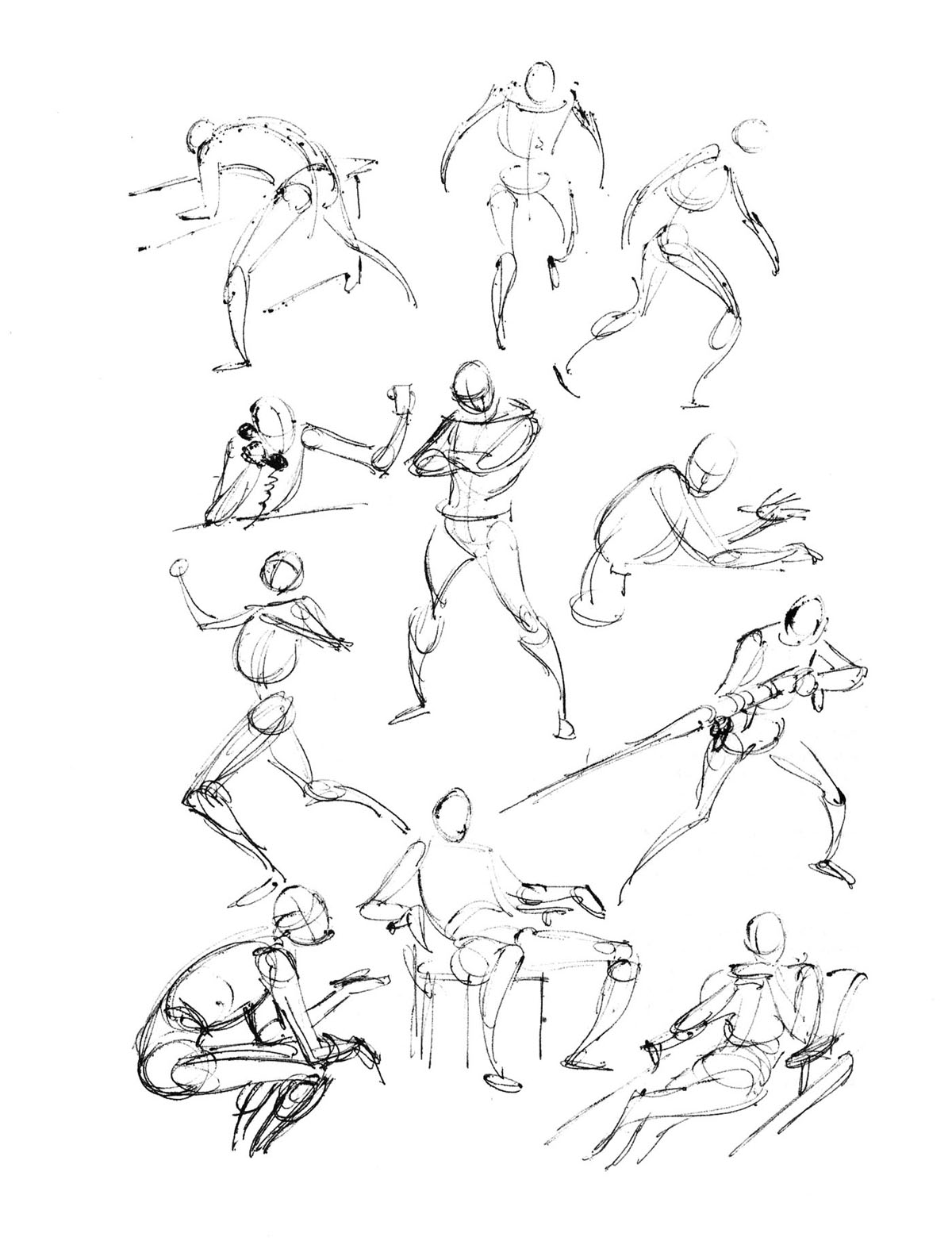 Dynamic Figure Drawing Head And Body By David Finchl