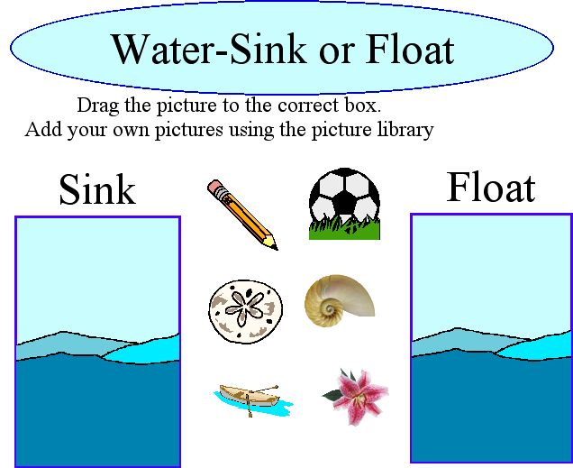 sink and float Sink or float while testing the buoyancy of differing objects is a great way for preschoolers to describe, learn about, and compare physical attributes, it's also a robust opportunity for practicing prediction, observation.