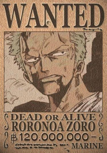 Zoro Bounty After Time Skip Anime Venus: Bounty Ro...