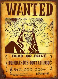 bounty Donquixote Doflamingo schichibukai one piece