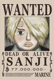 bounty sanji kun one piece
