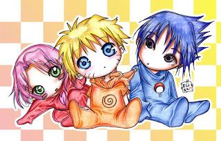 cute funny naruto sasuke sakura anime