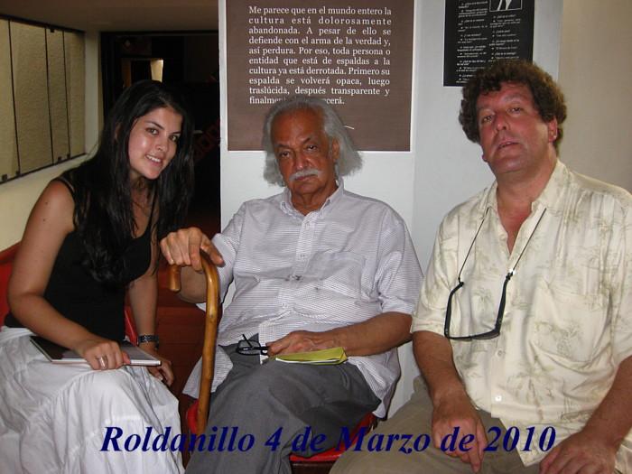 Roldanillo 4 de marzo del 2010 Museo Rayo. Maestro Omar Rayo, Michelle Narváez y Jairo Narváez
