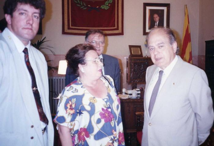 Jordi Pujol  Ayuntamiento de Berga 1992 Jairo Narváez Asesor  hermanamientos Comunidad Europea