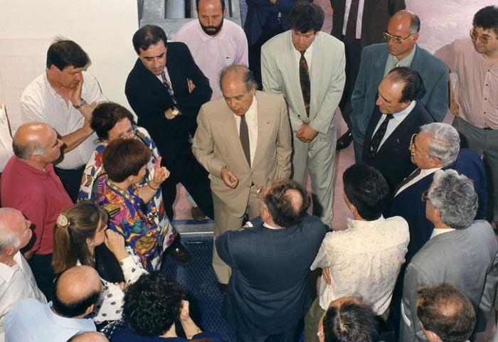 """Jordi Pujol de visita por la Comarca del Berguedà 1992  Jairo Narváez  """"Hermanamientos"""""""