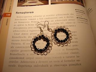 Cercei handmade sarma argintata şi cristale negre