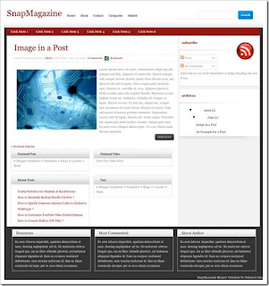 snap magazine blogger template