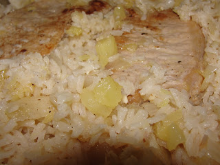 Tale of Two Sisters and Their Kitchens | One Skillet Jamaican Baked Pork Chops with Sticky Pineapple Rice