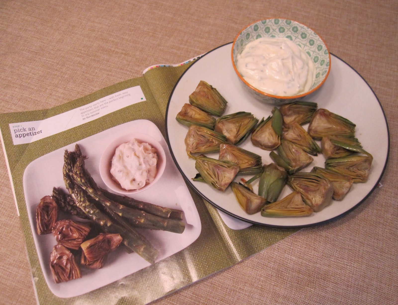 Roasted Asparagus And Baby Artichokes With Lemon-Oregano Aioli Recipes ...