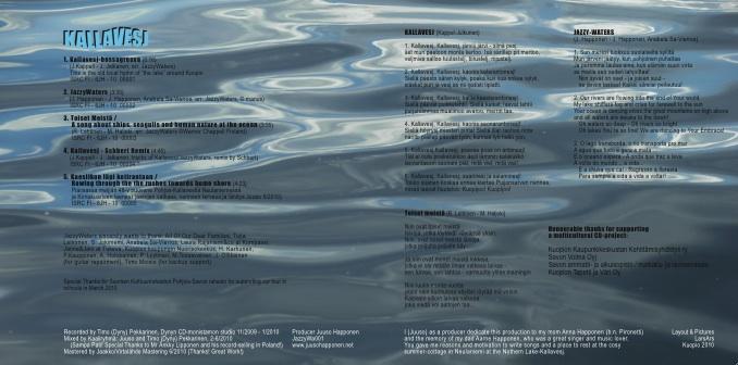 JazzyWaters Kallavesj-CD:n sisältö