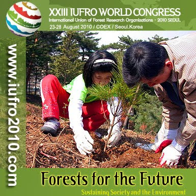 XXIII IUFRO World Congress, Seoul, Korea, August 2010 / XIII Congreso Mundial de IUFRO, Seul, Corea, Agosto 2010 / IUFRO, the International Union of Forest Research Organizations / The Global Network for Forest Science Cooperation / IUFRO, non-profit, non-governmental international network of forest scientists, promotes global cooperation in forest-related research and enhances the understanding of the ecological, economic and social aspects of forests and trees