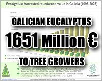 Eucalyptus mean 1651 million euro in timber value to Galicia, Spain / El cultivo del eucalipto rinde 1651 millones de euros en madera a Galicia, España / Gustavo Iglesias Trabado, Javier Folgueira Lozano, Roberto Carballeira Tenreiro / GIT Forestry Consulting SL / Consultoría y Servicios de Ingeniería Agroforestal, Galicia, España, Spain / Eucalyptologics, information resources on Eucalyptus cultivation around the world / Eucalyptologics, recursos de informacion sobre el cultivo del eucalipto en el mundo