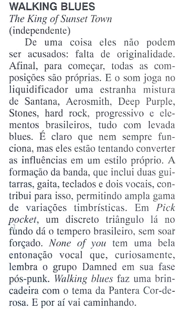 Imprensa - Revista Black & Blues Fev/Mar 97