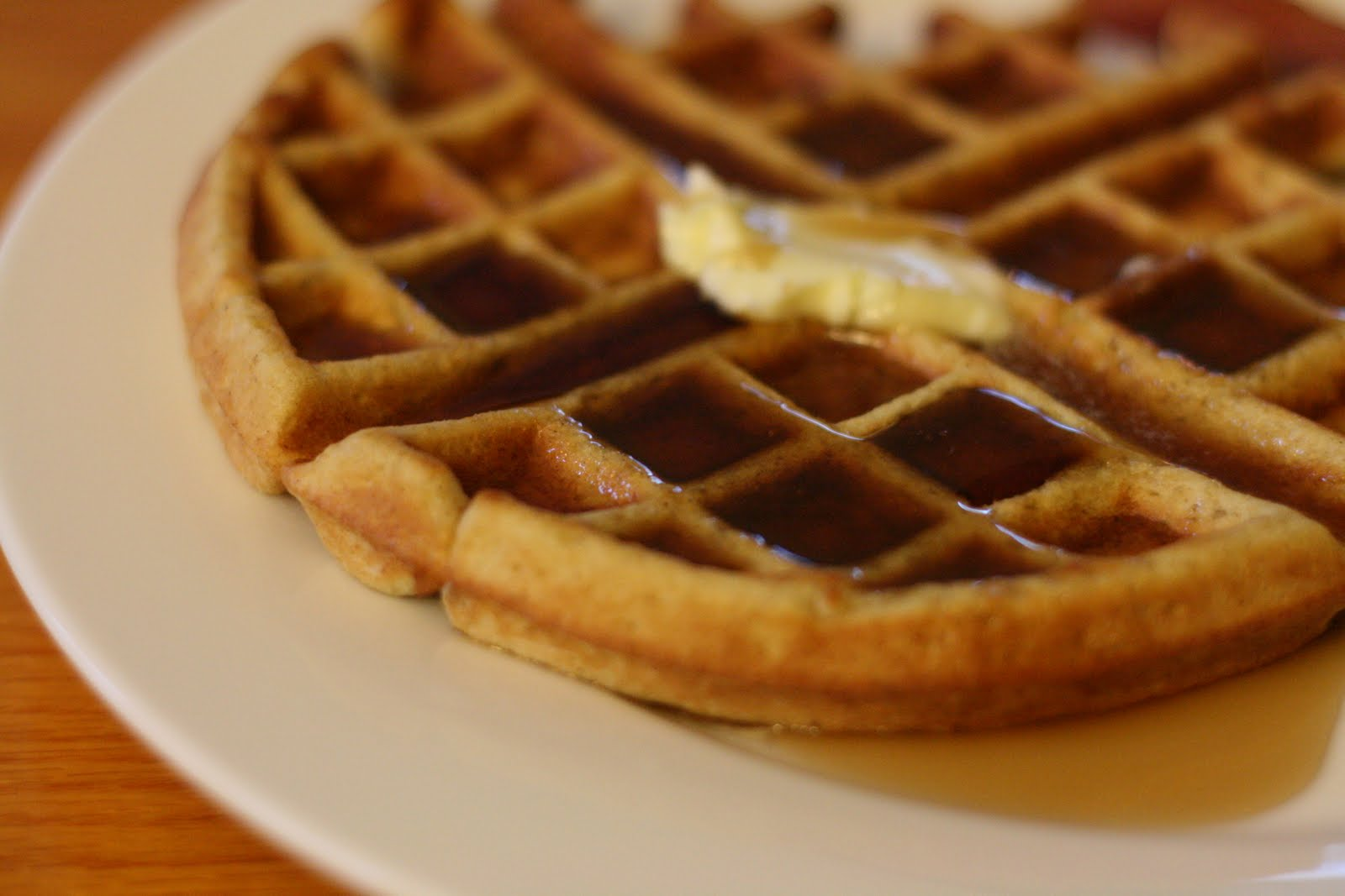 ... with hot maple syrup waffle with maple syrup peanut butter maple syrup