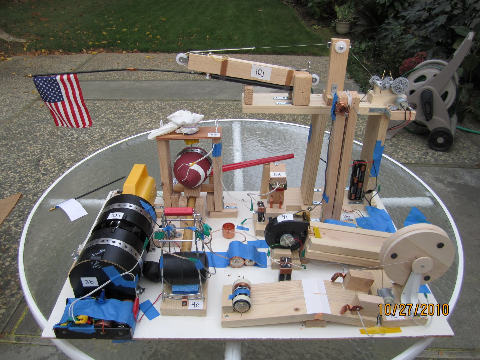 how to build a simple rube goldberg machine