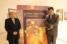 Miguel Godos y Houdini Guerrero en muestra Vargas Llosa