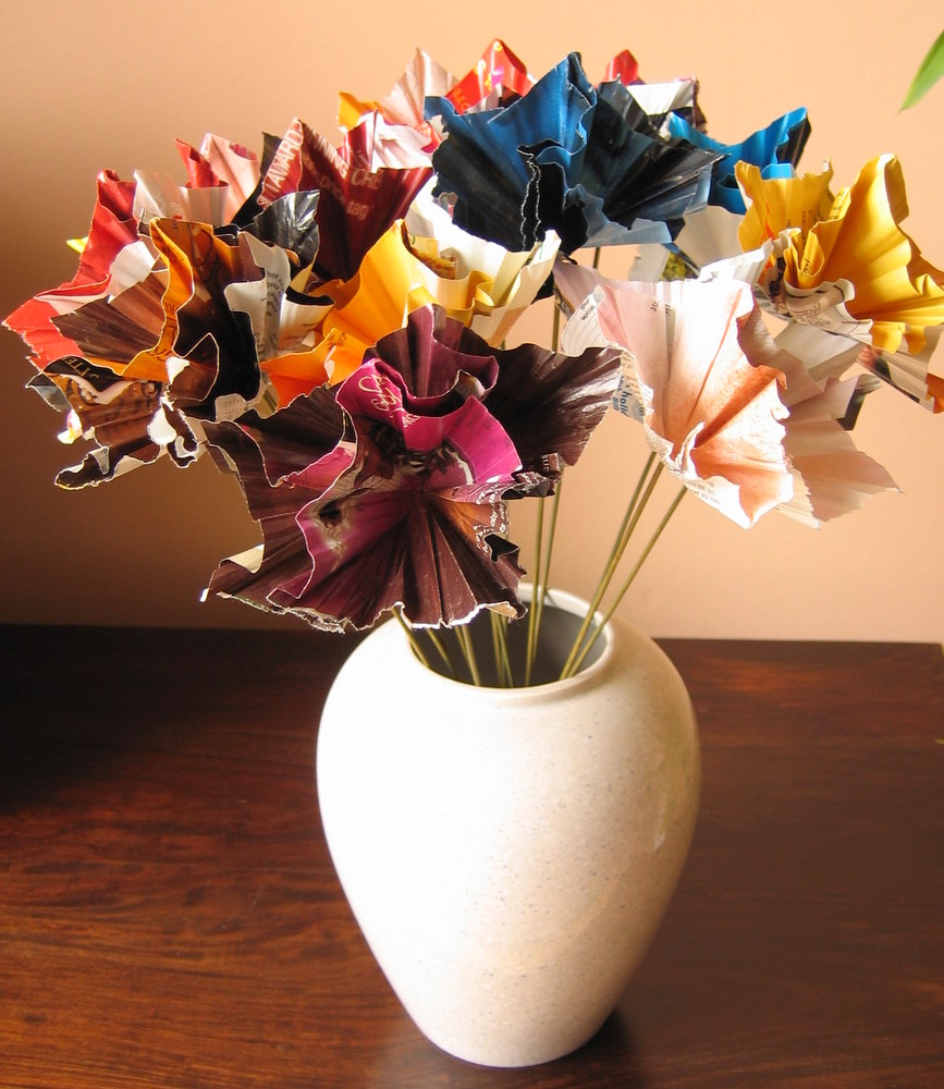 Helen Smith Artist Maker Recycled Paper Flowers