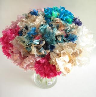 handmade fabric flowers by ffflowers on etsy