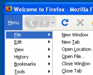 Tiny Menu Firefox Addon