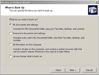 backup restore windows setting boot