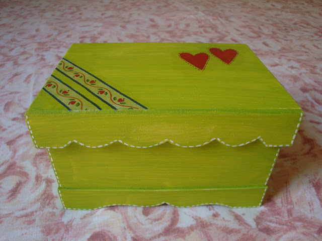 Pintura em MDF, caixa em MDF