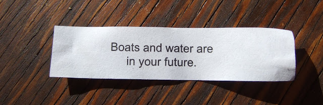 fortune cookie that says boats are in your future