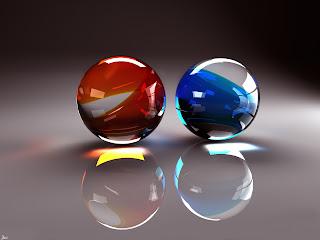 3D Glass Balls wallpaper 1600x1200