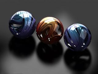 3D Balls wallpaper 1600x1200