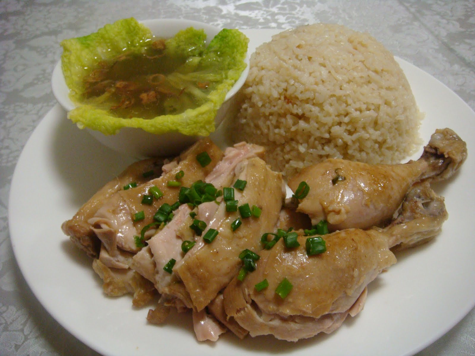 hainanese chicken rice poh s creative way of serving hainanese chicken ...