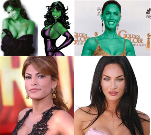 Eva Mendes - Megan Fox - She Hulk