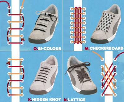 diseños originales y divertidos para acordonar las zapatillas