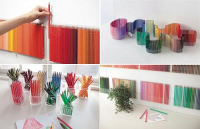 Colorida colección de 500 lapices