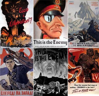 Intensa propaganda de la segunda guerra mundial