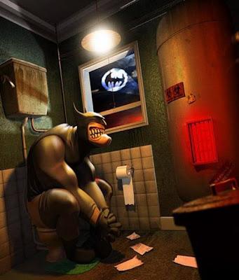 Batman en el baño