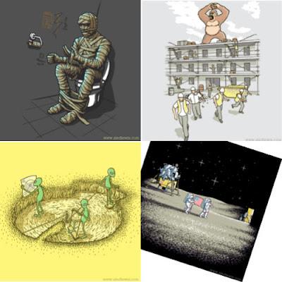 Las ingeniosas ilustraciones de Aled Lewis