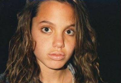 Angelina Jolie con 13 años de edad