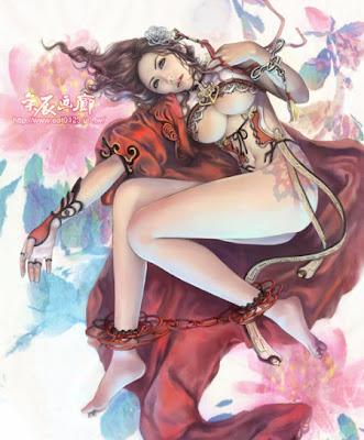 Lin I-Chen: Dibujos manga con mucha fantasia y erotismo