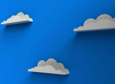 Estanterias con forma de nubes
