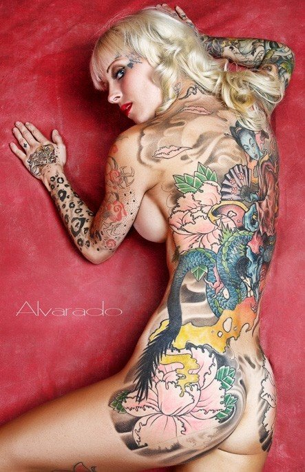 Girls With Tattoos All Over Her Sexy Body