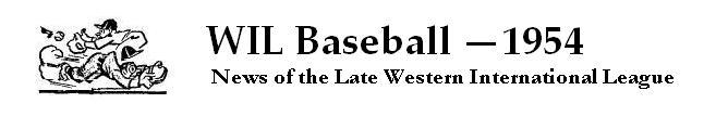 WIL Baseball — 1954