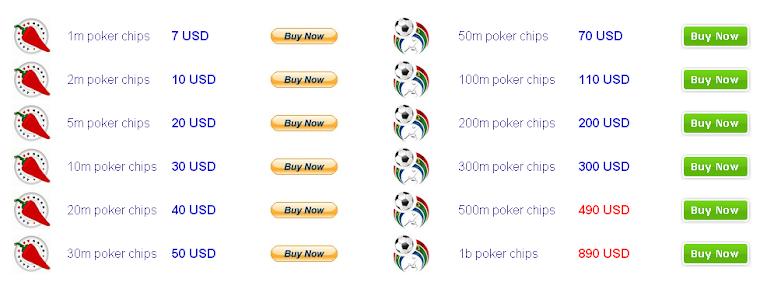Buying texas holdem poker chips facebook