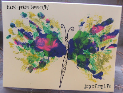 kids crafts painting handprint hand-print hand print butterfly