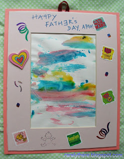 father's day toddler art craft finger painting