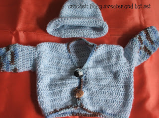 crochet easy baby sweater pattern