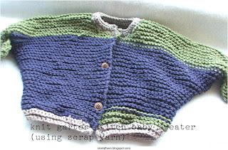 easy pattern knit garter stitch baby sweater